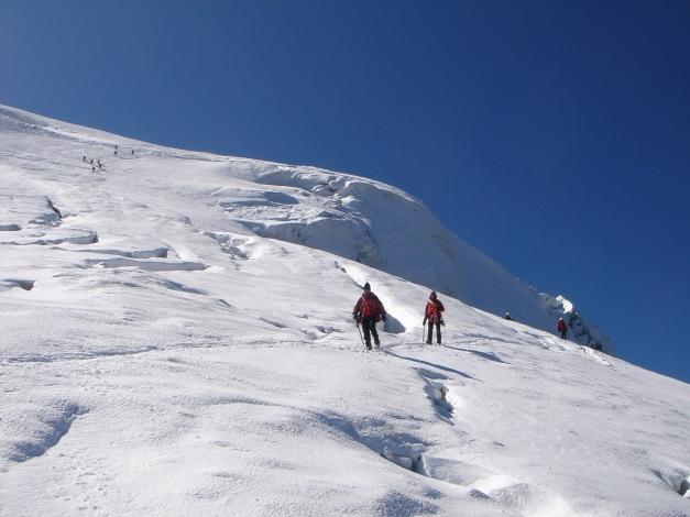Foto: Manfred Karl / Wander Tour / Ortler über den Meranerweg / Der Steilhang oberhalb des Tschirfecks / 24.09.2009 20:44:48