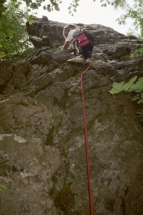 Foto: W.H. / Kletter Tour / NADEL / Kathi und die Westkante / 25.09.2009 09:48:28