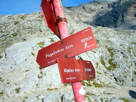 Foto: lacky / Wander Tour / Pogacnikov dom über Vrata Pass / Vrata Pass auf 2180m / 26.09.2009 11:33:28