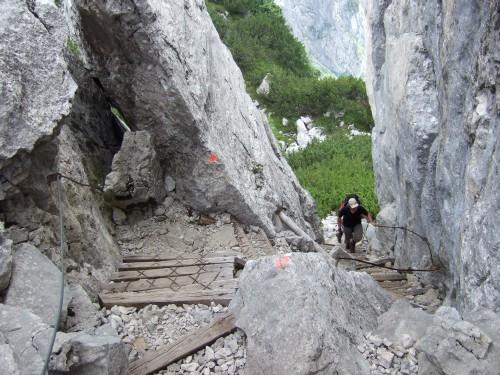 Foto: hofchri / Wander Tour / Hoher Göll (2522 m) - Runde Mannlsteig (B/C) und Schustersteig (A/B) / origineller Pfad vom Kehlstein (1837 m) bis zum Manngrat / 01.10.2009 20:40:59