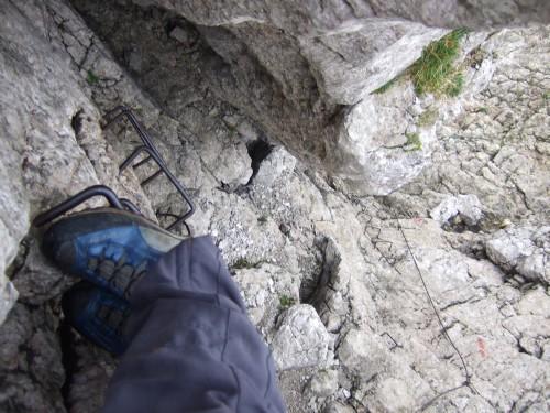 Foto: hofchri / Wander Tour / Hoher Göll (2522 m) - Runde Mannlsteig (B/C) und Schustersteig (A/B) / der Mannlsteig geht dem Ende zu / 01.10.2009 20:47:34