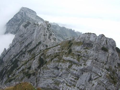 Foto: hofchri / Wander Tour / Hoher Göll (2522 m) - Runde Mannlsteig (B/C) und Schustersteig (A/B) / Rückblick auf die Mannlköpfe / 01.10.2009 20:48:03