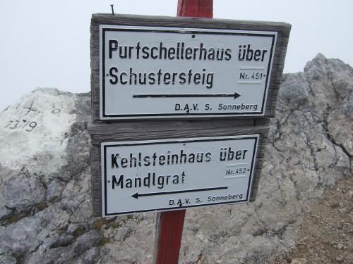 Foto: hofchri / Wander Tour / Hoher Göll (2522 m) - Runde Mannlsteig (B/C) und Schustersteig (A/B) / Abzweig Schustersteig (2250 m) / 01.10.2009 20:48:42