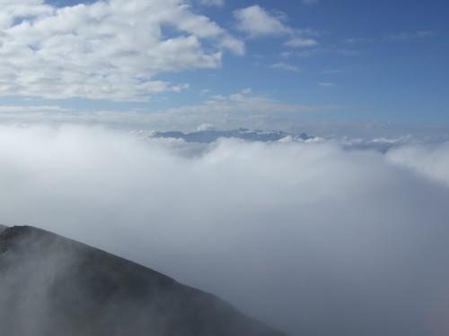 Foto: hofchri / Wander Tour / Hoher Göll (2522 m) - Runde Mannlsteig (B/C) und Schustersteig (A/B) / Gipfelsturm - die letzten Meter / 01.10.2009 20:49:27