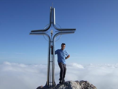 Foto: hofchri / Wander Tour / Hoher Göll (2522 m) - Runde Mannlsteig (B/C) und Schustersteig (A/B) / geschafft - knapp über der Hochnebelgrenze / 01.10.2009 20:50:07