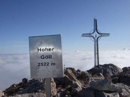 Foto: hofchri / Wander Tour / Hoher Göll (2522 m) - Runde Mannlsteig (B/C) und Schustersteig (A/B) / Glück gehabt, stehe am Hohen Göll / 01.10.2009 20:51:18