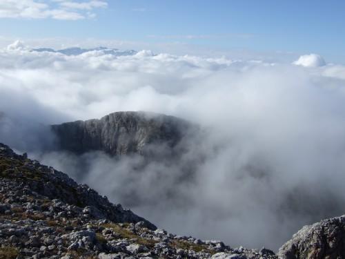 Foto: hofchri / Wander Tour / Hoher Göll (2522 m) - Runde Mannlsteig (B/C) und Schustersteig (A/B) / in der Sonne ist es warm / 01.10.2009 20:51:43