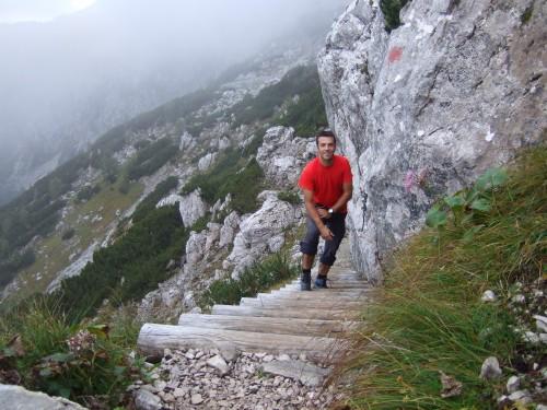Foto: hofchri / Wander Tour / Hoher Göll (2522 m) - Runde Mannlsteig (B/C) und Schustersteig (A/B) / bereits am offiziellen Rundweg am Kehlstein / 01.10.2009 20:43:57