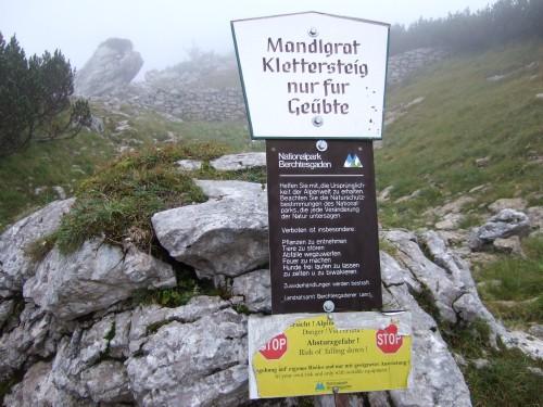 Foto: hofchri / Wander Tour / Hoher Göll (2522 m) - Runde Mannlsteig (B/C) und Schustersteig (A/B) / hier führen die Wege wieder zusammen zum Mannlsteig / 01.10.2009 20:44:32