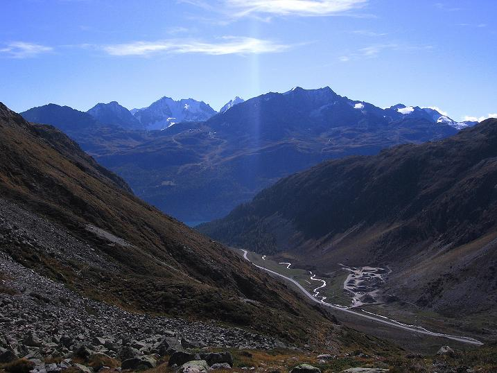 Foto: Andreas Koller / Wander Tour / Hoch über St. Moritz auf den Piz Julier (3380 m) / 07.10.2009 20:38:35