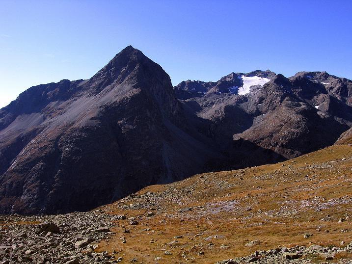 Foto: Andreas Koller / Wander Tour / Hoch über St. Moritz auf den Piz Julier (3380 m) / Piz Lagrev (3165 m)  / 07.10.2009 20:38:19