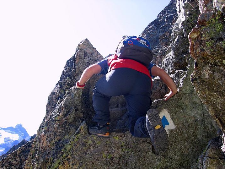 Foto: Andreas Koller / Wander Tour / Hoch über St. Moritz auf den Piz Julier (3380 m) / Leichte Kletterei (II) / 07.10.2009 20:22:30