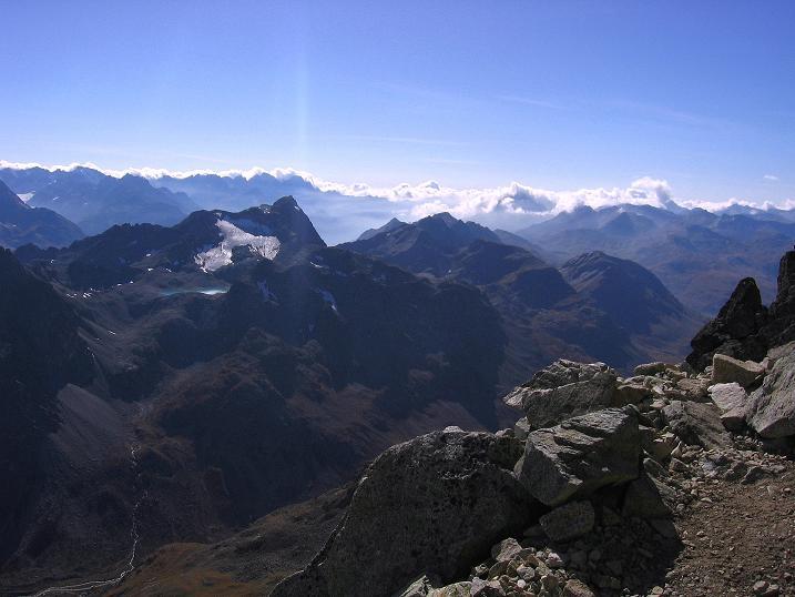 Foto: Andreas Koller / Wander Tour / Hoch über St. Moritz auf den Piz Julier (3380 m) / 07.10.2009 20:19:58