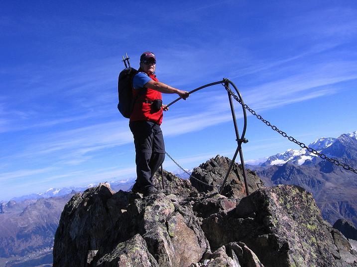 Foto: Andreas Koller / Wander Tour / Hoch über St. Moritz auf den Piz Julier (3380 m) / 07.10.2009 20:18:37