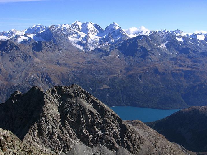 Foto: Andreas Koller / Wander Tour / Hoch über St. Moritz auf den Piz Julier (3380 m) / 07.10.2009 20:17:43