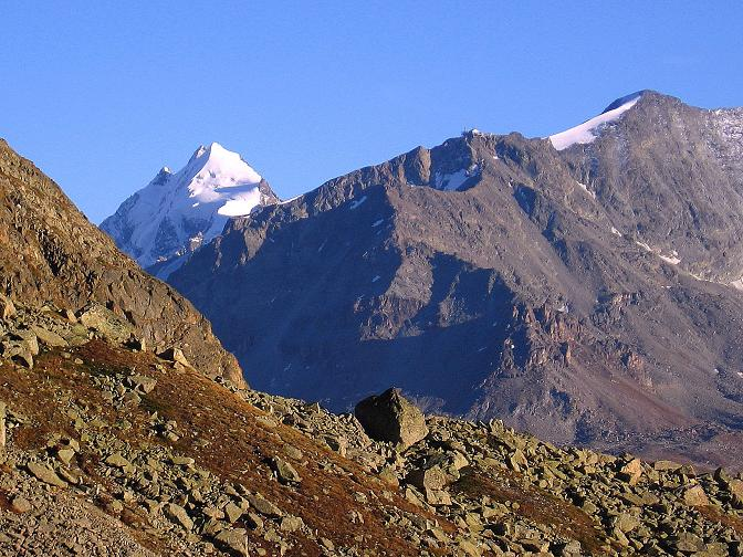 Foto: Andreas Koller / Wander Tour / Hoch über St. Moritz auf den Piz Julier (3380 m) / Piz Roseg (3937 m) / 07.10.2009 20:12:42