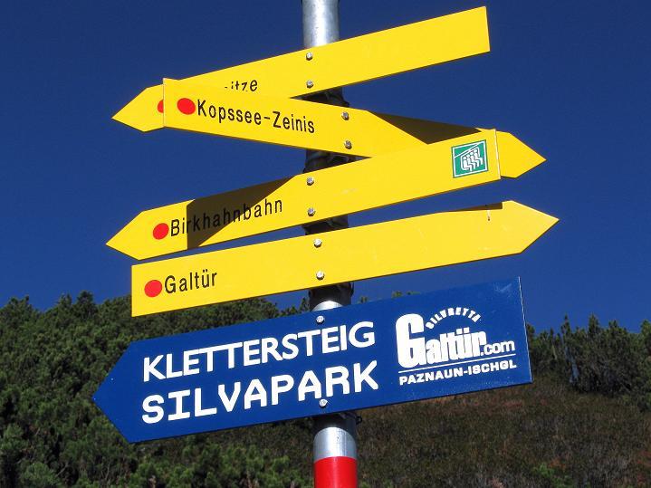 Foto: Andreas Koller / Klettersteig Tour / Klettersteig Silvapark (2671 m) / 10.10.2009 14:43:37