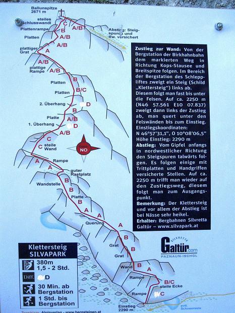 Foto: Andreas Koller / Klettersteig Tour / Klettersteig Silvapark (2671 m) / 10.10.2009 14:41:42
