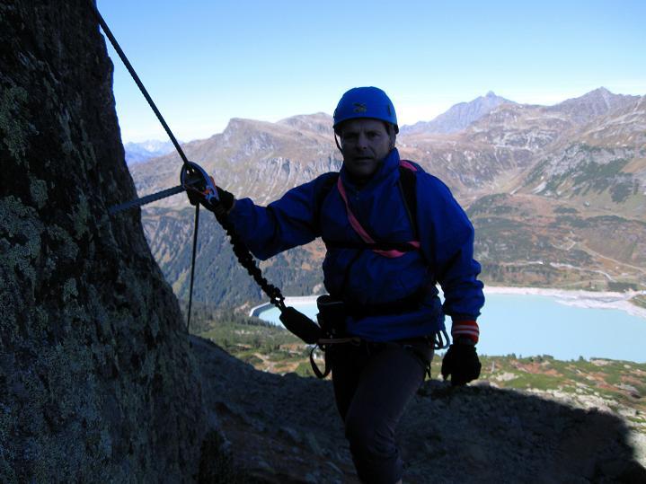 Foto: Andreas Koller / Klettersteig Tour / Klettersteig Silvapark (2671 m) / 10.10.2009 14:40:05