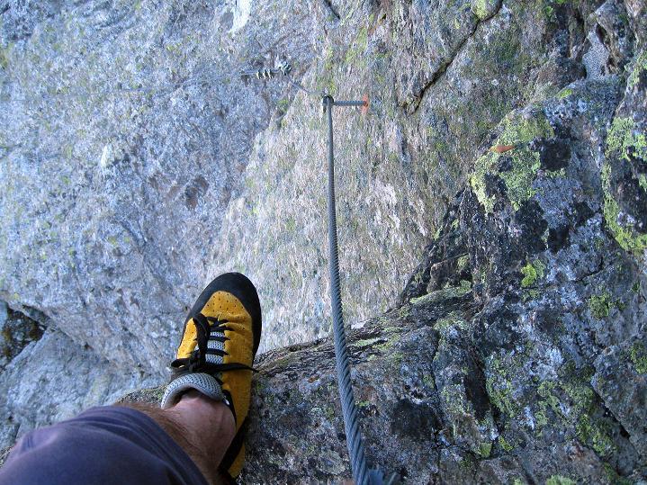 Foto: Andreas Koller / Klettersteig Tour / Klettersteig Silvapark (2671 m) / Genau über dem 2. Überhang / 10.10.2009 14:37:11