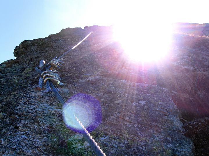 Foto: Andreas Koller / Klettersteig Tour / Klettersteig Silvapark (2671 m) / 10.10.2009 14:35:36
