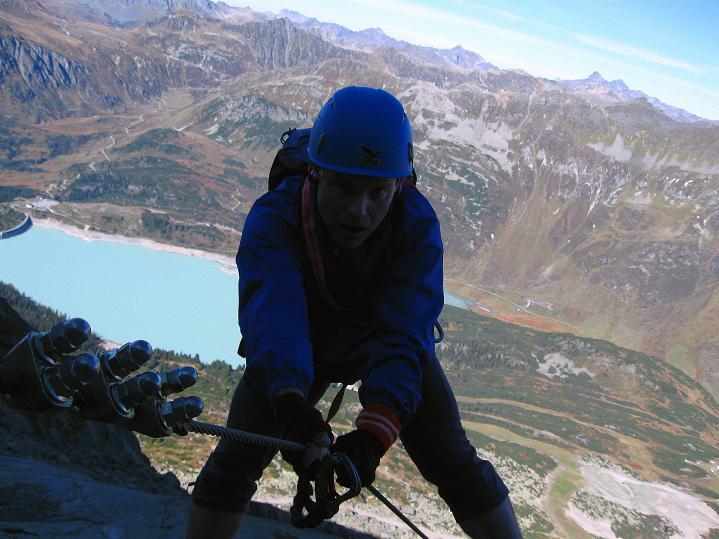 Foto: Andreas Koller / Klettersteig Tour / Klettersteig Silvapark (2671 m) / 10.10.2009 14:34:01
