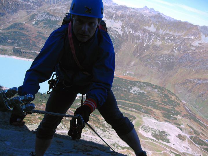 Foto: Andreas Koller / Klettersteig Tour / Klettersteig Silvapark (2671 m) / 10.10.2009 14:33:43