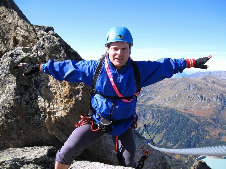 Foto: Andreas Koller / Klettersteig Tour / Klettersteig Silvapark (2671 m) / 10.10.2009 14:32:02