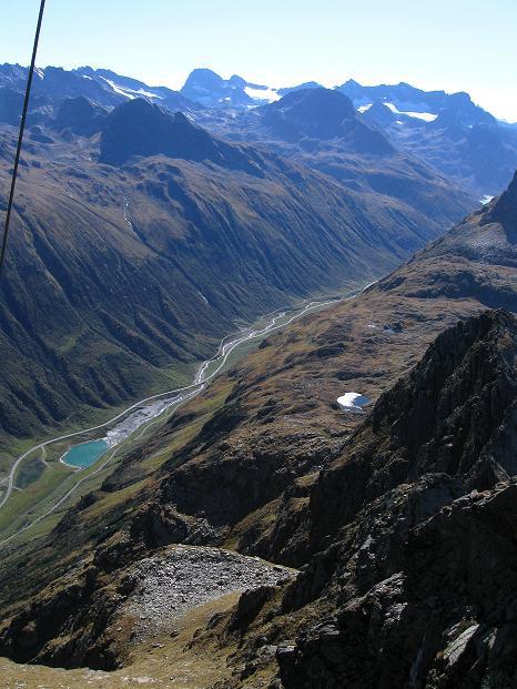 Foto: Andreas Koller / Klettersteig Tour / Klettersteig Silvapark (2671 m) / Silvretta Hochalpenstraße und Piz Buin (3312 m) / 10.10.2009 14:31:25