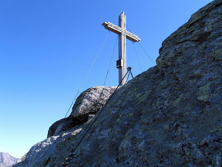 Foto: Andreas Koller / Klettersteig Tour / Klettersteig Silvapark (2671 m) / Zum Gipfelkreuz / 10.10.2009 14:29:47