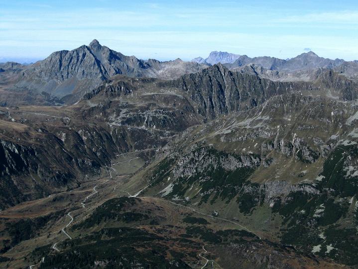 Foto: Andreas Koller / Klettersteig Tour / Klettersteig Silvapark (2671 m) / Blick nach NW zur Roten Wand (2703 m) / 10.10.2009 14:27:53