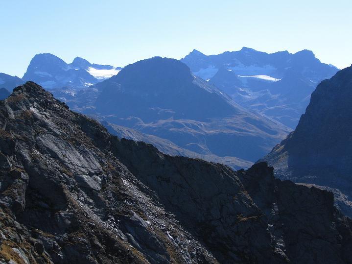 Foto: Andreas Koller / Klettersteig Tour / Klettersteig Silvapark (2671 m) / Blick zum Piz Buin (3312 m) / 10.10.2009 14:26:12