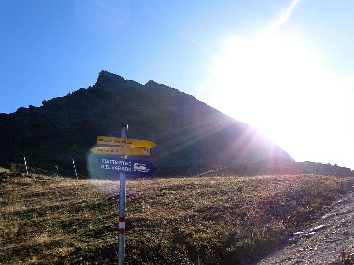 Foto: Andreas Koller / Klettersteig Tour / Klettersteig Silvapark (2671 m) / 10.10.2009 14:23:36