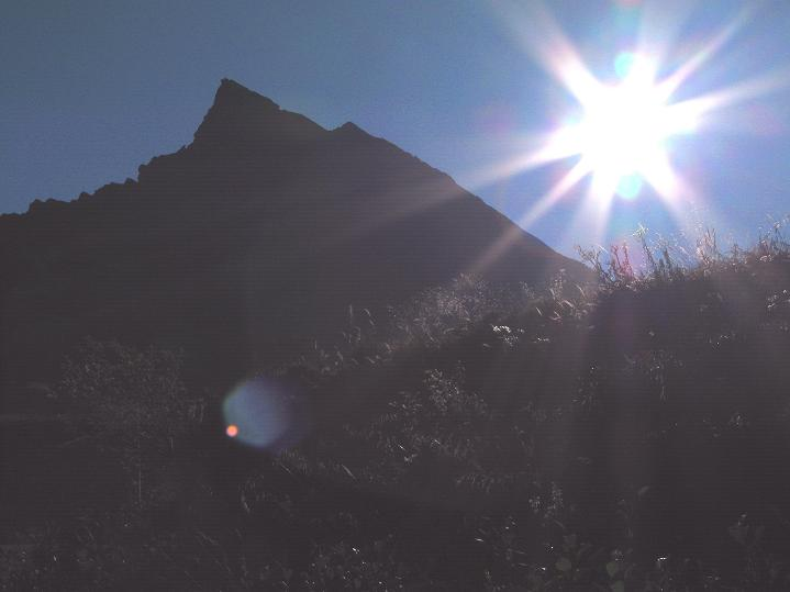 Foto: Andreas Koller / Klettersteig Tour / Klettersteig Silvapark (2671 m) / Letzter Blick auf die Ballunspitze / 10.10.2009 14:23:27