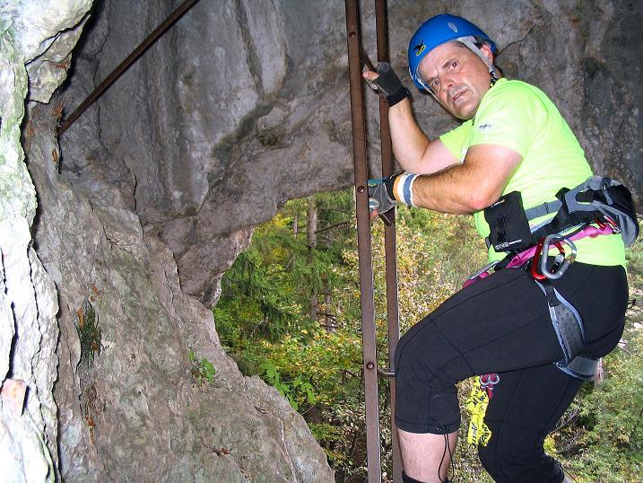 Foto: Andreas Koller / Klettersteig Tour / Frauenluckensteig und Völlerinsteig (892m) / 10.10.2009 00:46:14