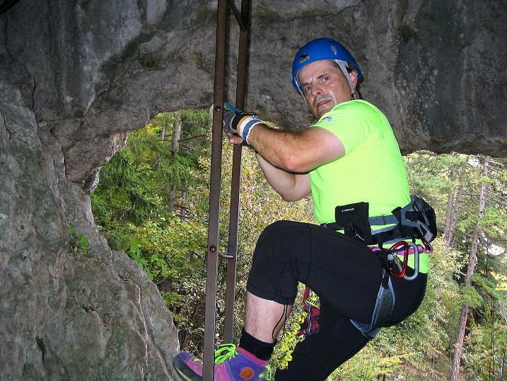 Foto: Andreas Koller / Klettersteig Tour / Frauenluckensteig und Völlerinsteig (892m) / 10.10.2009 00:45:58