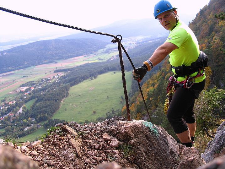 Foto: Andreas Koller / Klettersteig Tour / Frauenluckensteig und Völlerinsteig (892m) / 10.10.2009 00:43:48