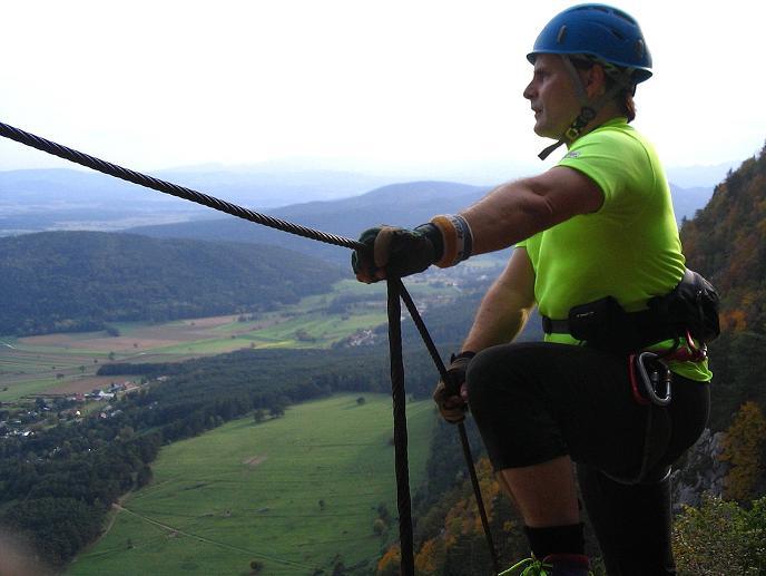 Foto: Andreas Koller / Klettersteig Tour / Frauenluckensteig und Völlerinsteig (892m) / 10.10.2009 00:43:38