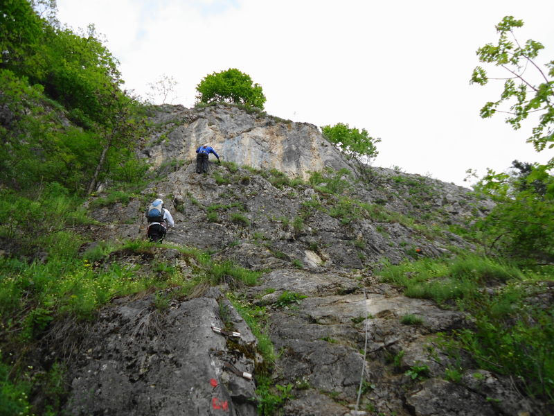 Foto: Günter Siegl / Klettersteig Tour / Ganghofersteig (826m) / 03.05.2014 21:07:04