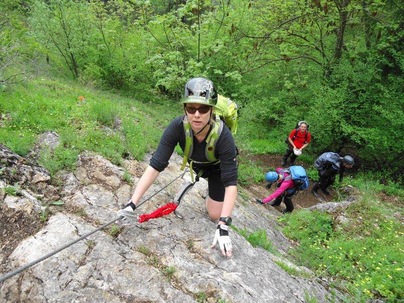 Foto: Günter Siegl / Klettersteig Tour / Ganghofersteig (826m) / Einstieg / 03.05.2014 21:06:41