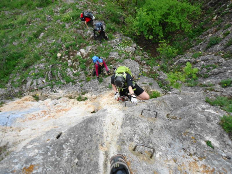 Foto: Günter Siegl / Klettersteig Tour / Ganghofersteig (826m) / Klammernreihe / 03.05.2014 21:06:18