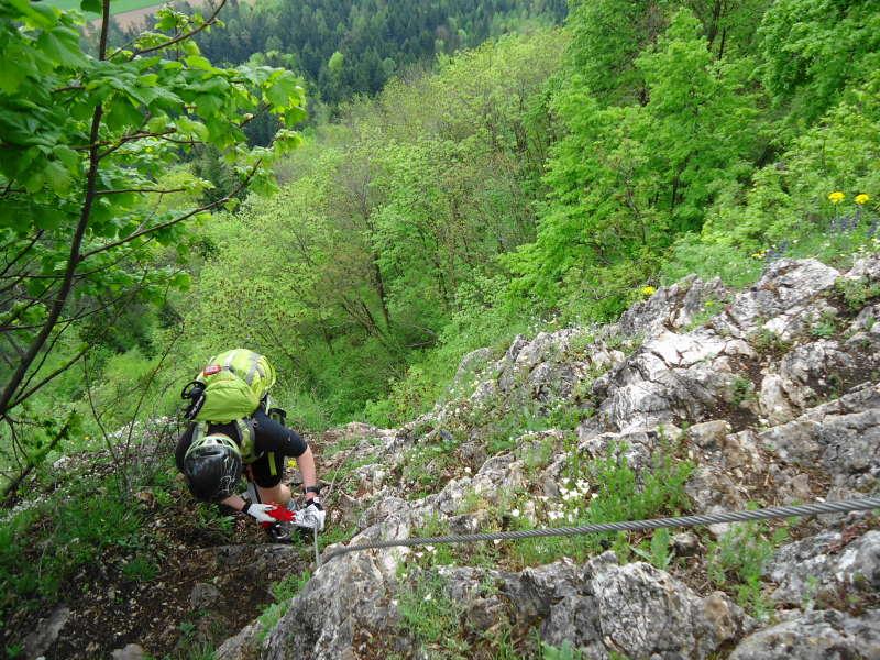 Foto: Günter Siegl / Klettersteig Tour / Ganghofersteig (826m) / Netter Klettersteig, aber zu kurz / 03.05.2014 21:05:04