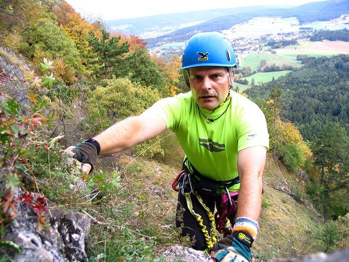Foto: Andreas Koller / Klettersteig Tour / Ganghofersteig (826m) / Zustieg mit leichter Kletterei / 09.10.2009 00:57:26