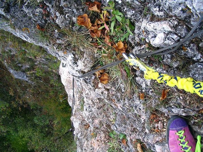 Foto: Andreas Koller / Klettersteig Tour / Ganghofersteig (826m) / 09.10.2009 00:56:16