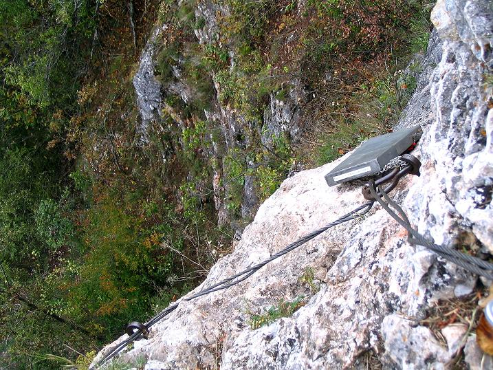 Foto: Andreas Koller / Klettersteig Tour / Ganghofersteig (826m) / Das Steigbuch / 09.10.2009 00:56:08