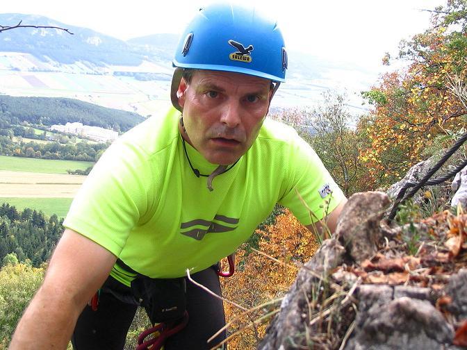 Foto: Andreas Koller / Klettersteig Tour / Ganghofersteig (826m) / 09.10.2009 00:55:55