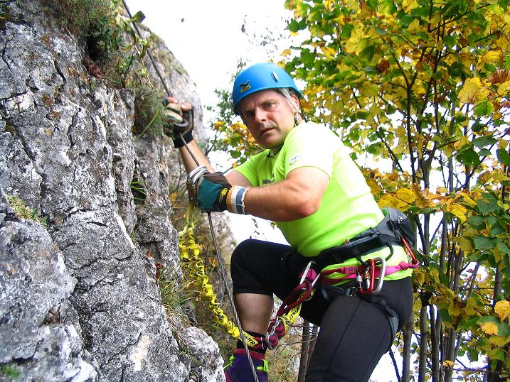 Foto: Andreas Koller / Klettersteig Tour / Ganghofersteig (826m) / 09.10.2009 00:55:48