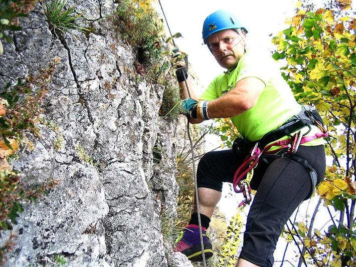 Foto: Andreas Koller / Klettersteig Tour / Ganghofersteig (826m) / 09.10.2009 00:55:41
