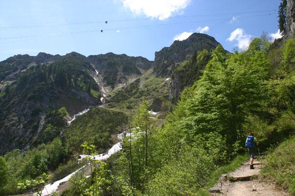 Foto: Christian Schickmayr / Wander Tour / Hochfelln über Weißachental / Zwischen Bründlingalm und Gipfel / 09.10.2009 09:35:33