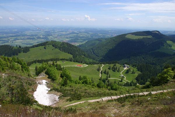 Foto: Christian Schickmayr / Wander Tour / Hochfelln über Weißachental / Tiefblick in den Chiemgau / 09.10.2009 09:35:53